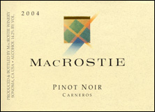 MacRostie Winery & Vineyards Pinot Noir